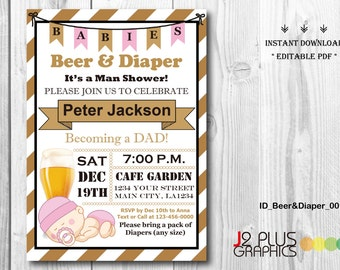 Diaper party invitation Etsy