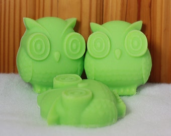 Owl Homemade Soap, Avocado Oil, Shea Butter and Cocoa Butter - Can make any color