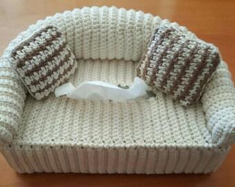 Kleenex box cover Crochet custom sofa sofa cover for kleenex boxes made to order