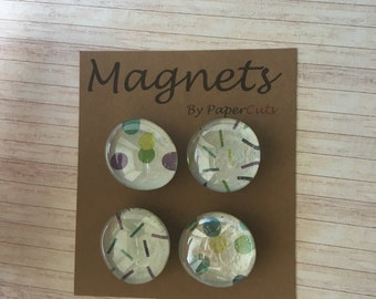 Magnets / fridge accessories / office supplies / 4 pack magnets