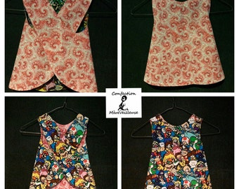 reversible dress 12-18 months - ready to go-