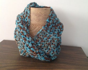Soft infinity scarf. Varigated colors