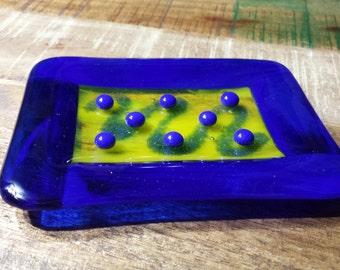 Handmade Fused Glass Soap Dish