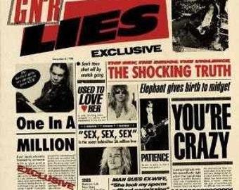 Guns N' Roses GN'R Lies Cassette Tape