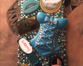All blues iPhone 6 Plus 5.5 bling case