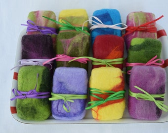 wet felted soap