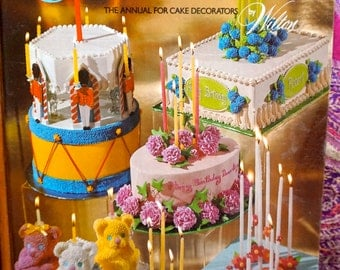 Awesome Colorful Vintage 70s Cake Decorating Design Book