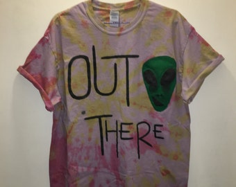 Out There. Grunge Tie-Dye Tee