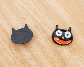 Laughing Cat 23mm x 25mm Flatback Cabochon Deco Resin Embellishments Scrapbooking Craft DIY Halloween - 1/5/20pcs