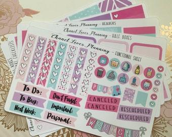 GLOSSY Pretty Pastels Happy Planner Sticker Kit