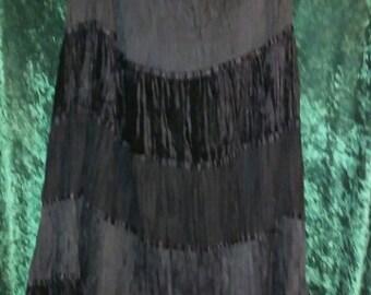 gorgeous velvet maxi skirt
