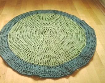 crochet round rug, handmade  rug, lace rug doily rug