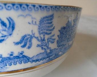 porcelain deep bowl willow pattern 'ye olde willow' myott