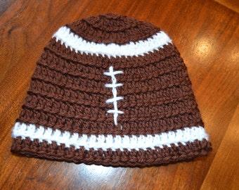 Infant-Toddler Crochet Football Beanie