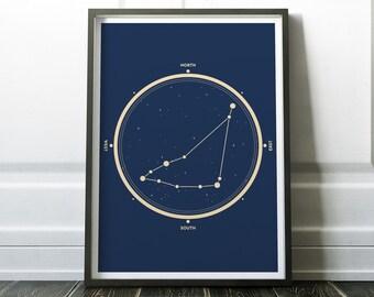 Capricorn Zodiac Sign Print - Zodiac Capricorn - Capricorn Constellation - Stars Constellation Print  - Zodiac Sign - Zodiac Print