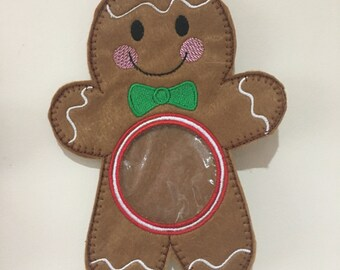 Gingerbread man treat holder / Gingerbread man sweet holder / Stocking filler / christmas gift / christmas present / christmas decoration