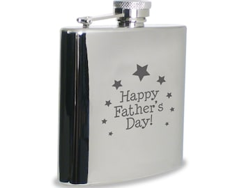 Personalized Stainless Steel 6oz Flask/Wedding Flask/Groomsmen Flask/Father's Day Gift