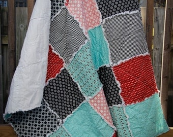 Crib/Toddler/Baby/Small Lap Size Rag Quilt - Boy or Girl