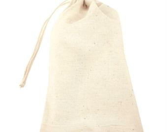 Muslin Bags/packaging/DIY Bags/Gift Bag/Set of 10