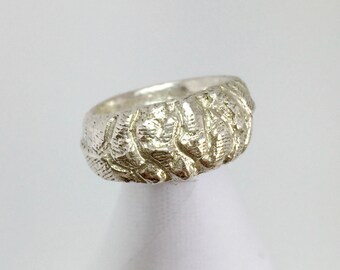 Cuttlefish Cast Sterling Silver Ring