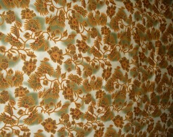 Orange flowers fabric