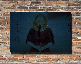 Adele 18x12 Print, Adele, Adele Print, Adele Poster, Adele Wall Art, Adele Hello, Adele 25, Instagram, Blueprints, Blueprinted, Adele Gift