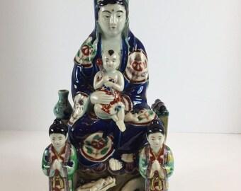 Very Beautiful Chinese / Japanese Porcelain Kwan Yin Statue