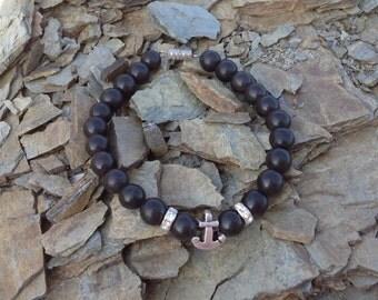 FREE SHIPPING ONYX Natural stone bracelet Beads 8 mm