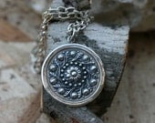 Flower  Pendant, Silver Pendant ,  925 Sterling Pendant, Silver Jewelry,