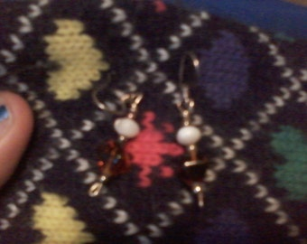 Cats eye pearl and genuine amber
