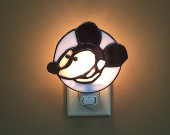 Vintage Stained Glass Mickey Mouse night light