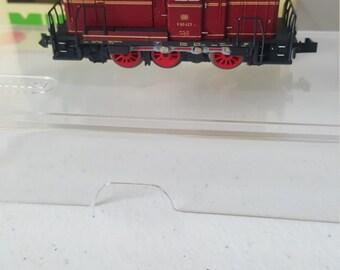 VINTAGE Minitrix Profi DB Dieselock Red Locomotive N Scale Made In Germany