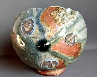 Wonderful signed ball vase - Japan