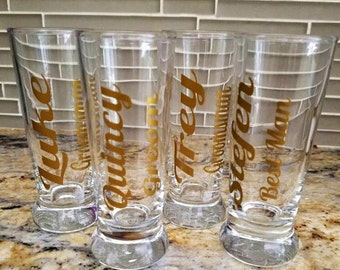 Groom Wedding Party Shot Glasses-Bachelor Party-Groomsmen Gifts-Shot Glasses-Wedding Shot Glasses-Groomsmen Shot Glasses-Personalized Shot