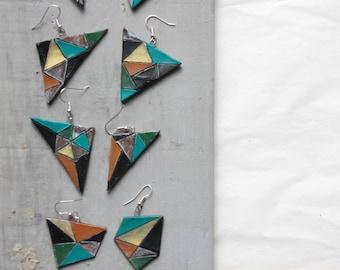 terracotta triangular earrings