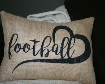 Football Pillow, Sports Pillow, Throw Pillow, Decorative Pillow, Fall Pillow, Whimsical Pillow, Holiday Pillow, 12x16 Pillow,