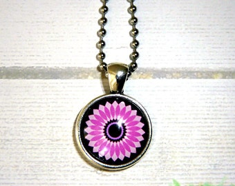 Chain with pink flower