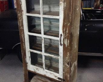 Barnwood Curio Display cabinet