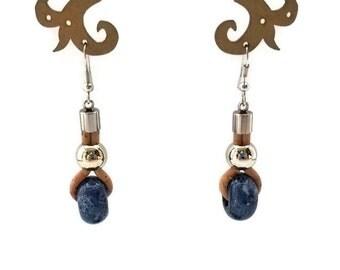 Portuguese cork earrings, vegan jewelry, gift for her, women's gift, vegan earrings