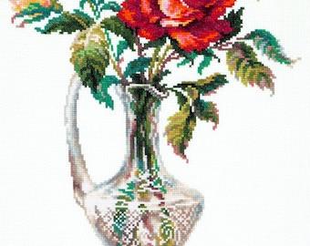 Cross Stitch Kit Red Rose