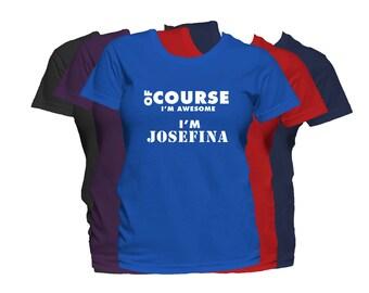 JOSEFINA  Womens First Name T Shirt First Name Family Name Custom Personalized Name T-Shirt
