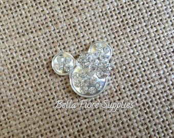 Minnie Mouse Rhinestone Flatback Button, Minnie Mouse Mickey Mouse Embellishment, DIY Wholesale, Disney Headband