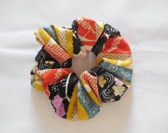 Chauhan in yellow black Japanese fabric red with flowers