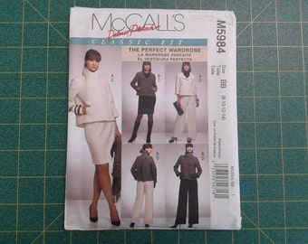 Classic Fit Perfect Wardrobe McCall's M5984 Complete Outfit, Jacket, Pants, and Skirt Uncut Pattern Sizes 8,10,12,14