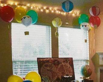 Hot air balloon decor lantern
