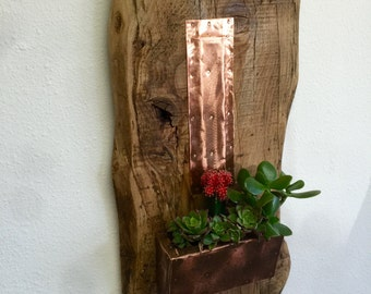 Rustic Handcrafted Decorative Wall Planter