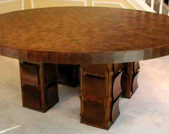 SHIMMER: Round Dining Table woodworking furniture plans