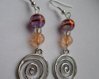 Swirl Pendant Earrings