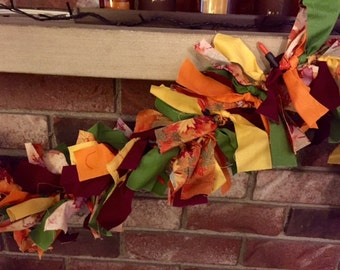Fall Leaves Lighted Fabric Garland