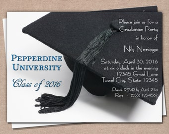 Graduation Invitation - Graduation Announcement - Printable Graduation Invitation